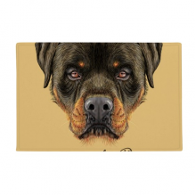 "Black Ferocious Rottweiler Dog Pet Animal Anti-slip Floor Mat Carpet Bathroom Living Room Kitchen Door 16""x30""Gift"