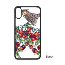 Bird Plant Fruit Eat Green iPhone X Cases iPhonecase Apple iPhone Cover Phone Case Gift