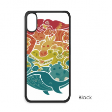 Blue Ocean Fish Abstract Illustrate iPhone X Cases iPhonecase Apple iPhone Cover Phone Case Gift