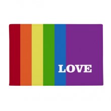 "Love LGBT Rainbow Homo Anti-slip Floor Mat Carpet Bathroom Living Room Kitchen Door 16""x30""Gift"