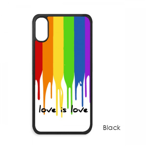 Love is Love LGBT Rainbow Color Cute Cat iPhone X Cases iPhonecase Cover Case