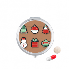 Christmas Symbol Christmas Cartoon Icon Pill Case Pocket Medicine Storage Box Container Dispenser