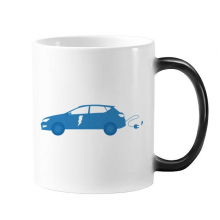 Plug Energy Vehicles Protect Environment Changing Color Mug Morphing Heat Sensitive Cup Gift With Handles 350 ml
