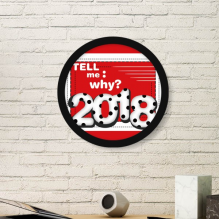 2018 Tell Me Why Milk Digital Happy New Year Art Painting Picture Photo Wooden Round Frame Home Wall Decor Gift
