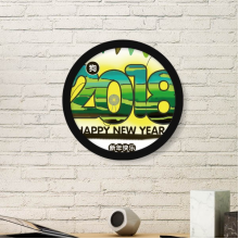 2018 Grasslands Happy New Year Of The Dog Art Painting Picture Photo Wooden Round Frame Home Wall Decor Gift