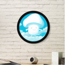 003 Art Painting Picture Photo Wooden Round Frame Home Wall Decor Gift