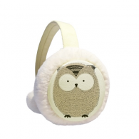 Simplicity Style Chubby Owl Winter Earmuffs Ear Warmers Faux Fur Foldable Plush Outdoor Gift