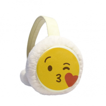 Love You Yellow Cute Online Chat Happy Winter Ear Warmer Cable Knit Furry Fleece Earmuff Outdoor