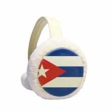 Cuba National Flag North American Symbol Winter Earmuffs Ear Warmers Faux Fur Foldable Plush Outdoor Gift