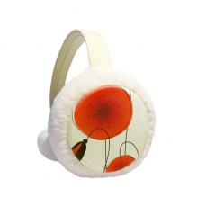 Abstract Flowers Painting Corn Poppy Winter Earmuffs Ear Warmers Faux Fur Foldable Plush Outdoor Gift