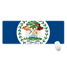 Belize Flag North America Country Non-Slip Mousepad Large Extended Game Office titched Edges Computer Mat Gift