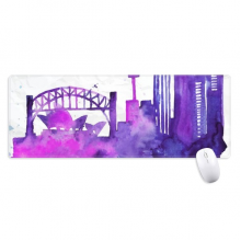 Australia Sydney Opera House Watercolor Non-Slip Mousepad Large Extended Game Office titched Edges Computer Mat Gift