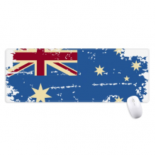 Australia Flavor Flag Retro Illustration Non-Slip Mousepad Large Extended Game Office titched Edges Computer Mat Gift
