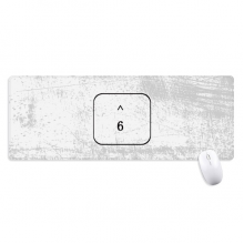 Keyboard Symbol 6 Non-Slip Mousepad Large Extended Game Office titched Edges Computer Mat Gift