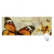 Butterfly in Autumn Wood Non-Slip Mousepad Large Extended Game Office titched Edges Computer Mat Gift