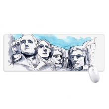 American Rushmore National Memorial Non-Slip Mousepad Large Extended Game Office titched Edges Computer Mat Gift