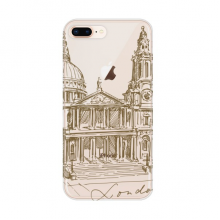 St.Paul's Cathedral England London Apple iPhone 7/8 Plus Phone Case Flexible TPU Soft Transparent Cover Gift