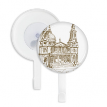 St.Paul's Cathedral England London Sucker Suction Cup Hooks Plastic Bathroom Kitchen 5pcs Gift