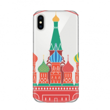 Cathedral Buiding Moscow Church Apple iPhone X Phone Case Flexible TPU Soft Slim Transparent Cover Gift