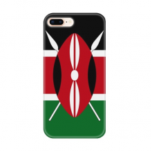 Kenya National Flag Africa Country for Apple iPhone 7/8 Plus Phone Case Flexible TPU Soft Transparent Cover Gift