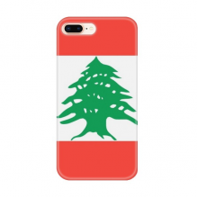 Lebanon National Flag Asia Country for Apple iPhone 7/8 Plus Phone Case Flexible TPU Soft Transparent Cover Gift
