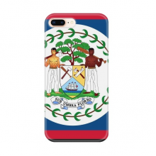 Belize Flag North America Country for Apple iPhone 7/8 Plus Phone Case Flexible TPU Soft Transparent Cover Gift