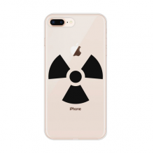 Dangerous Chemical Toxic Radiation Pattern Apple iPhone 7/8 Plus Phone Case Flexible TPU Soft Transparent Cover Gift