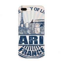 Paris France Flag Eiffel Tower Architecture for Apple iPhone 7/8 Plus Phone Case Flexible TPU Soft Transparent Cover Gift