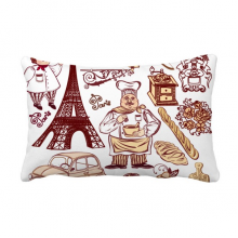 Food Cooker France Eiffel Tower Throw Lumbar Pillow Insert Cushion Cover Home Sofa Decor Gift