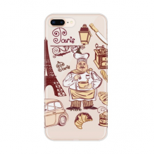 Food Cooker France Eiffel Tower Apple iPhone 7/8 Plus Phone Case Flexible TPU Soft Transparent Cover Gift