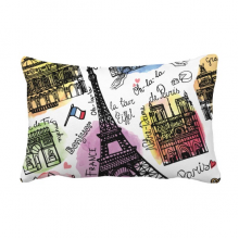 Building France Eiffel Tower Watercolor Throw Lumbar Pillow Insert Cushion Cover Home Sofa Decor Gift