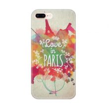 Colorful Mark City France Eiffel Tower Apple iPhone 7/8 Plus Phone Case Flexible TPU Soft Transparent Cover Gift