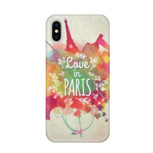 Colorful Mark City France Eiffel Tower Apple iPhone X Phone Case Flexible TPU Soft Slim Transparent Cover Gift