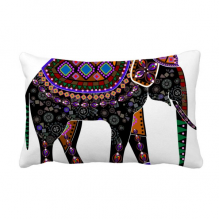 Colorful Elephant China Minority Dressing Totem Throw Lumbar Pillow Insert Cushion Cover Home Sofa Decor Gift