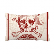 Red Crown Skeleton Poker Card Pattern Throw Lumbar Pillow Insert Cushion Cover Home Sofa Decor Gift