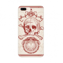 Red Crown Skeleton Poker Card Pattern Apple iPhone 7/8 Plus Phone Case Flexible TPU Soft Transparent Cover Gift