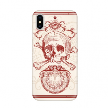 Red Crown Skeleton Poker Card Pattern Apple iPhone X Phone Case Flexible TPU Soft Slim Transparent Cover Gift