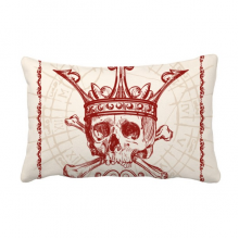 Hearts Spade Red Crown Skeleton Poker Card Throw Lumbar Pillow Insert Cushion Cover Home Sofa Decor Gift