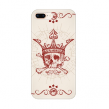Hearts Spade Red Crown Skeleton Poker Card Apple iPhone 7/8 Plus Phone Case Flexible TPU Soft Transparent Cover Gift