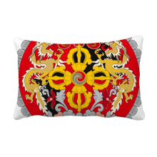 Bhutan National Emblem Country Throw Lumbar Pillow Insert Cushion Cover Home Sofa Decor Gift