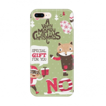 Christmas Animal Merry Christmas Festival Apple iPhone 7/8 Plus Phone Case Flexible TPU Soft Transparent Cover Gift