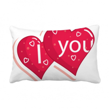 Valentine's Day Double Heart Love Throw Lumbar Pillow Insert Cushion Cover Home Sofa Decor Gift