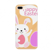 Happy Easter Religion Festival Egg Bunny for Apple iPhone 7/8 Plus Phone Case Flexible TPU Soft Transparent Cover Gift