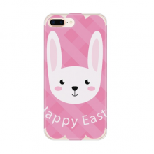 Happy Easter Festival Bunny Pattern for Apple iPhone 7/8 Plus Phone Case Flexible TPU Soft Transparent Cover Gift