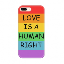 Gay Lesbian Rainbow Flag Illustration for Apple iPhone 7/8 Plus Phone Case Flexible TPU Soft Transparent Cover Gift