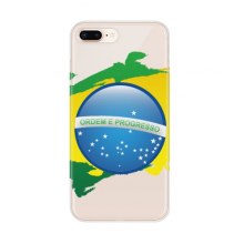 Brazil Flag Culture Element Map Apple iPhone 7/8 Plus Phone Case Flexible TPU Soft Transparent Cover Gift