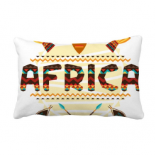 Africa Fancy Text Totem Signs Throw Lumbar Pillow Insert Cushion Cover Home Sofa Decor Gift