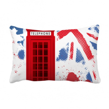 Britain UK London Flag Red Telephone Booth Throw Lumbar Pillow Insert Cushion Cover Home Sofa Decor Gift