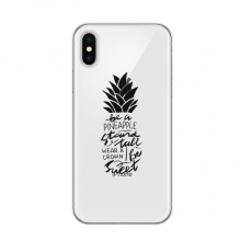 Be a Pineapple Stand Tall Sweet Quote Apple iPhone X Phone Case Flexible TPU Soft Slim Transparent Cover Gift