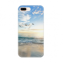 Ocean Sand Beach Bird Sea Picture for Apple iPhone 7/8 Plus Phone Case Flexible TPU Soft Transparent Cover Gift